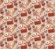 Pattern of sweets chocolate cake Royalty Free Stock Photo