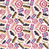 Pattern with sweets stock illustration