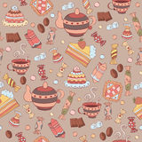 Pattern with sweets Royalty Free Stock Photos