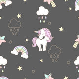 Pattern sweets unicorn seamless cute. Design pattern sweets unicorn seamless cute fabric for clothing ,bags or another in pastel tone Vector Illustration