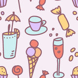 Pattern sweets vector illustration