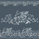 Pattern with swirling floral ornament Royalty Free Stock Photos
