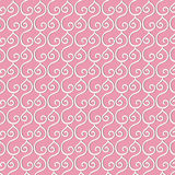 A pattern of swirls in white Stock Images