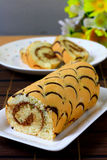 Pattern swiss roll Stock Photo