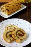 Pattern swiss roll Stock Images