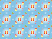 Pattern with symbols of Christmas Stock Image