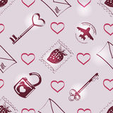 Pattern with symbols of love Stock Photos