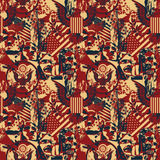 Pattern with symbols of the US Stock Photos