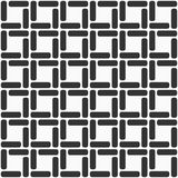 Pattern with symmetric ornament. Seamless monochrome pattern with symmetric geometric ornament. Regular tiled ornament. Background for greeting card Stock Photo