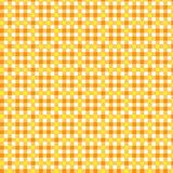 Pattern tablecloth yellow orange Stock Photography