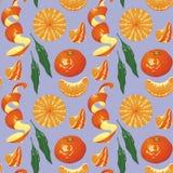 Pattern tangerines Stock Image