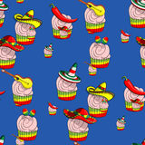 Pattern of tartlets Stock Image