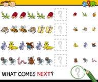 Pattern task for preschool kids Stock Images