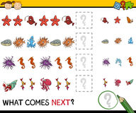 Pattern task for preschoolers Stock Images