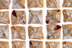 Pattern of tasty fresh breakfast pastries Stock Images