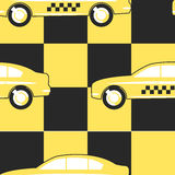 Pattern Taxi Cab Symbol on Yellow - Black Stock Photo