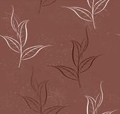 Pattern of tea plants Royalty Free Stock Photography