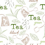 Pattern tea Stock Images