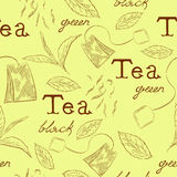 Pattern tea Royalty Free Stock Photos