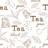 Pattern tea Royalty Free Stock Image
