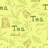 Pattern tea Royalty Free Stock Photography