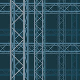 The pattern of the technical rectangular structure Stock Photography