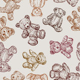 Pattern with a teddy Royalty Free Stock Photography