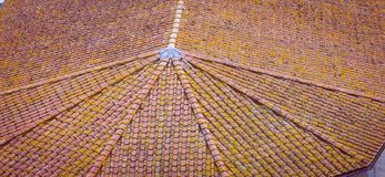 Pattern terracotta roof Italy Stock Photo