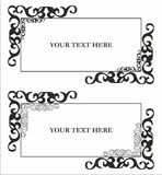 Pattern for text with decor Royalty Free Stock Image
