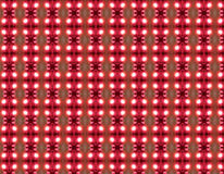 Pattern 1. Textile pattern with repeated geometries in red, white and dark shadows Stock Photo
