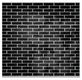 Pattern texture brick wall black color Stock Photography