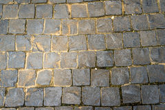 Pattern and texture of cobblestone floor Stock Photography
