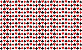 Pattern texture repeating seamless black red white background. Game, playing cards. Wallpaper, fabric. Poker flat icon card suites