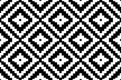 Pattern texture repeating seamless monochrome black & white. Geometry and ornament. Vector background. Repeat. Stock Photos