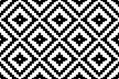 Pattern texture repeating seamless monochrome black & white. Geometry and ornament. Vector background. Repeat. Royalty Free Stock Image