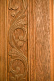 Pattern Thai art carving on wood Royalty Free Stock Photo