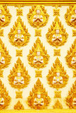Pattern of Thai art on the wall of Thai temple Royalty Free Stock Image