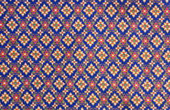Pattern on thai cloth Stock Photography
