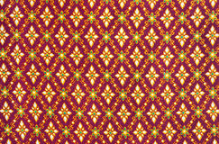 Pattern on thai cloth Royalty Free Stock Images