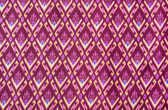 Pattern on thai cloth Stock Photos