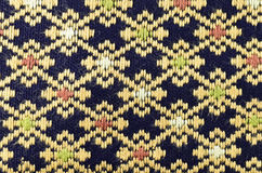 Pattern on thai cloth texture Stock Image
