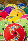 Pattern of thai colorful umbrellas Stock Images