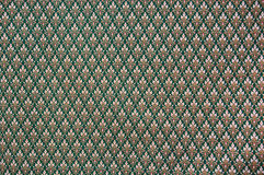 Pattern of thai fabric. Closeup pattern texture of general traditional thai style native handmade fabric weave Stock Photo