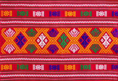 Pattern on thai fabric texture. Royalty Free Stock Photo
