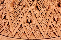 Pattern of Thai Fine Art Sculpture Royalty Free Stock Images