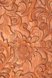 Pattern of Thai floral sculpture Stock Photos