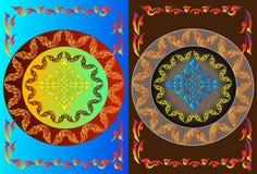 Pattern thai frames Royalty Free Stock Photo