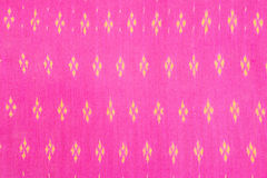 Pattern of thai hand made fabric Royalty Free Stock Photography