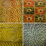 Pattern from Thai's color full pottery Stock Photos