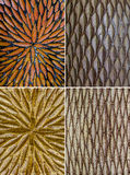 Pattern from Thai's color full pottery Stock Image